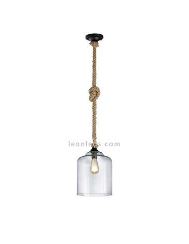 Lámpara de techo de estilo Vintage de la serie Judith de Trio Lighting | LeonLeds Iluminación
