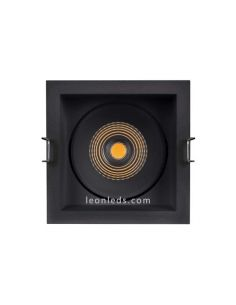 Downlight cuadrado orientable LED de color negro de Led Vance | LeonLeds Iluminación