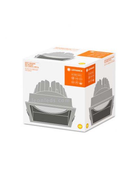 Embalaje de Downlight LED empotrable blanco cuadrado moderno orientable de LedVance   LeonLeds Iluminación