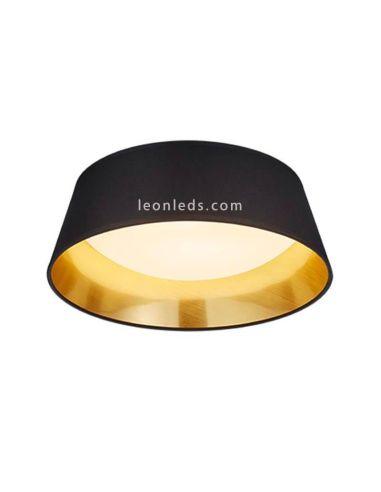 Plafon de Techo LED Ponts con una potencia de 14W de color Negro y Dorado | LeonLeds Iluminación