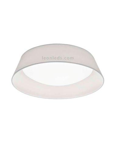 Plafón LED redondo moderno con pantalla textil modelo Ponts de Trio Ligting | LeonLeds Iluminación
