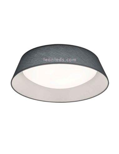 Plafón redondo LED serie Ponts Gris y blanco de diseño moderno | LeonLeds Iluminación