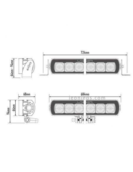 Barra LED alargada de Lazer T16 potente con 5 años de garantía | Leonleds Iluminación
