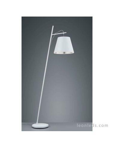 Lámpara de Pie Blanca y Gris de salón de diseño moderno de la serie Andreus de mantra | LeonLeds Iluminación LED