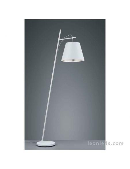 Lámpara de Pie Blanca y Gris de salón de diseño moderno de la serie Andreus de mantra   LeonLeds Iluminación LED