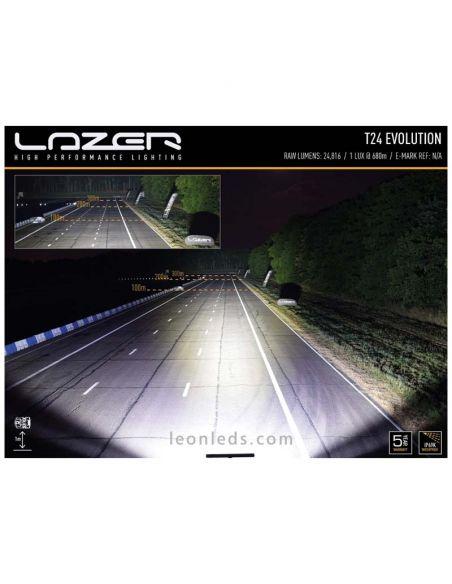 Dimensiones de Barra LED Lazer T24 Evolution | Barra led 4x4 Lazer T24 | Leonleds Iluminación
