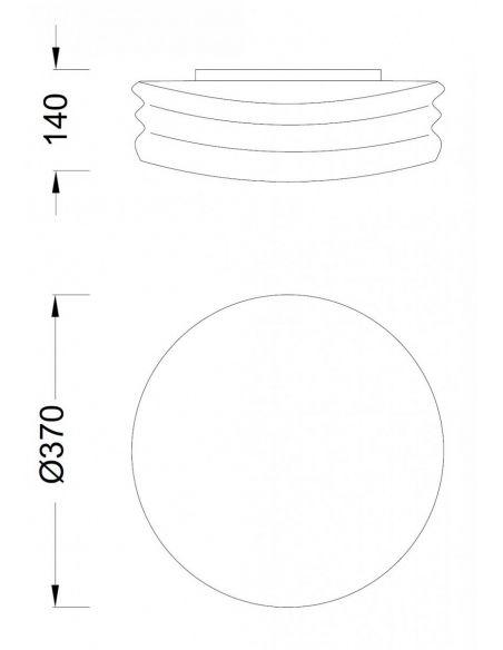 Dimensiones de Plafón de techo Mediterraneo de mantra | Leonleds Iluminación