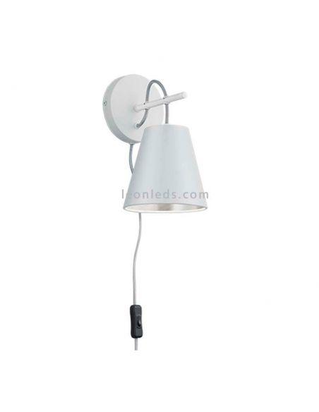 Aplique de pared interior de la serie Andreus de diseño moderno de color blanco y plateado | LeonLeds Iluminación LED