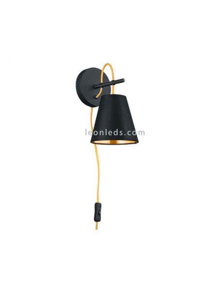Aplique de pared andreus negro y dorado de la serie Trio Lighting de diseño moderno | LeonLeds Iluminación