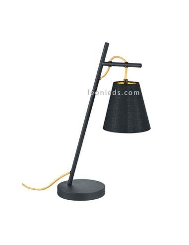 Lámpara de Sobremesa moderna negra y dorada de la serie Andreus de Trio Lighting   LeonLeds Iluminación
