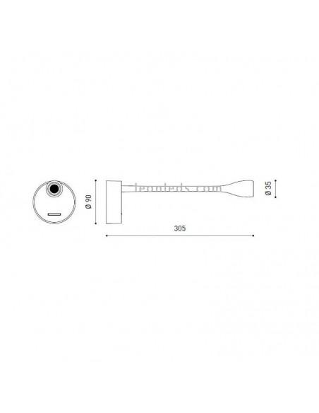 Aplique de Pared Dram de ArkosLight con 2.1W en 2 tonos de luz al mejor precio   LeonLeds Iluminación
