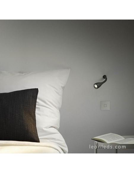 Aplique de pared Empotrado como luz de lectura de Arkoslight Dream | LeonLeds Iluminación