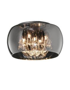 Plafón de techo moderno exclusivo de cristal cromado | LeonLeds Lámparas decorativas