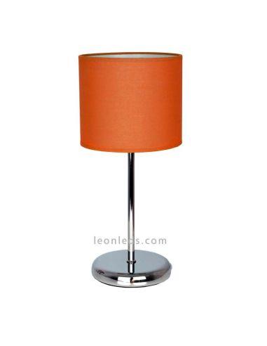 Lámpara de Sobremesa Adriática cromada y naranja de diseño moderno | Lámpara de Sobremesa barata | LeonLeds Iluminación