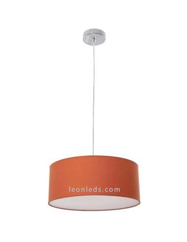 Lámpara de techo grande moderna Naranja con un diametro de 50Cm de la serie Adriático regulable en altura | LeonLeds Iluminación