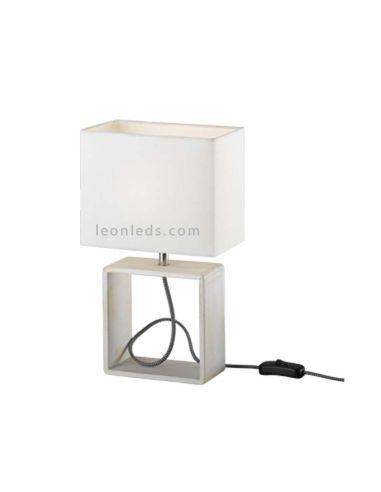 Lámpara de mesa minimalista de color blanca de la serie Tick de Trio Lighting   LeonLeds Iluminación
