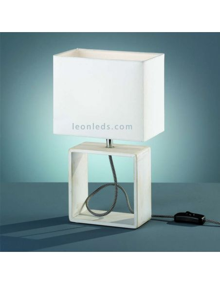 Lámpara de sobremesa de estilo Minimalista de la serie Tick de Trio Lighting   Pantalla rectangular   LeonLeds Iluminación