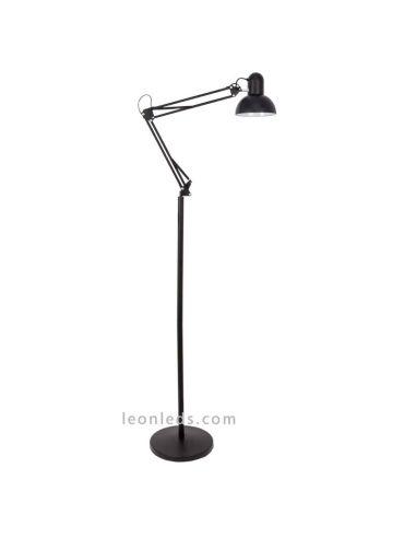 Lámpara de Pie Articulable negra de | LeonLeds Iluminación decorativa