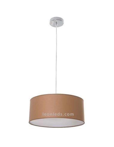 Lámpara de techo de color salmón regulable en altura | LeonLeds Iluminación decorativa