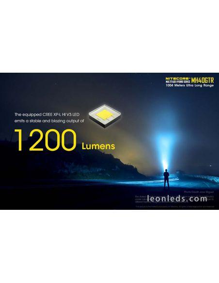 Linterna LED Alta potencia Nitecore MH40GTR | LeonLeds Linternas LED