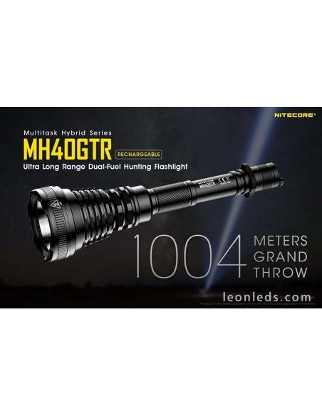 Linterna LED larga distancia don mas de un kilometro de alcance | LeonLeds Linternas LED potentes