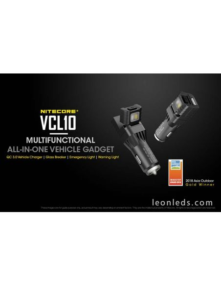 Nitecore VLC10 cargador de mechero multinfunción | LeonLeds LED