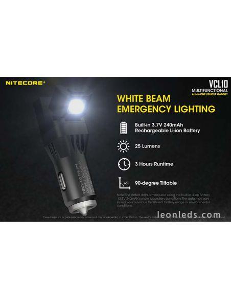 Cargador de mechero para coche con luz led USB | LeonLeds Iluminación LED