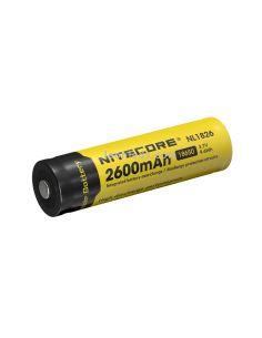Batería de Litio Li-Ion de 2600mAh de Nitecore formato 18650 recargable | LeonLeds Baterías