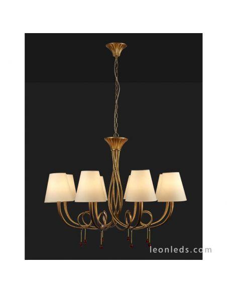 Lámpara de Techo araña dorada de estilo clásico de grandes dimensiones | LeonLeds Iluminación