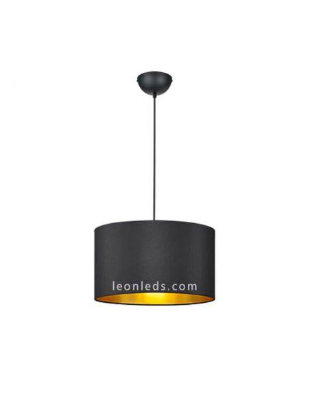 Lámpara de techo Negra y Dorada moderna de la serie Hostel regulable en altura | LeonLeds Iluminación decorativa