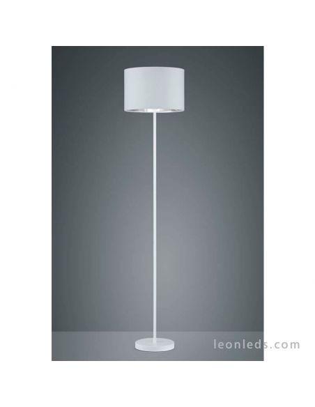Lámpara de Pie de diseño moderno blanca y platea de diseño moderno | LeonLeds Iluminación decorativa