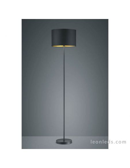 Lámpara de pie moderna negra y dorada de la serie Hostel | LeonLeds Iluminación decorativa