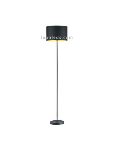 Lámpara de Pie moderna para el salón negro y dorado | LeonLeds Iluminación