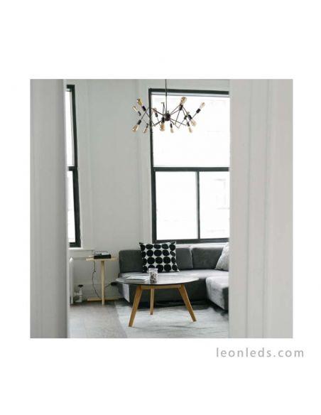 Lámpara araña 12 brazos de estilo Vintage serie Atomico barata | LeonLeds Iluminación decorativa