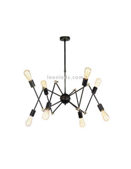 Lámpara de techo de estilo Vintage con 8 brazos de araña | LeonLeds Iluminación