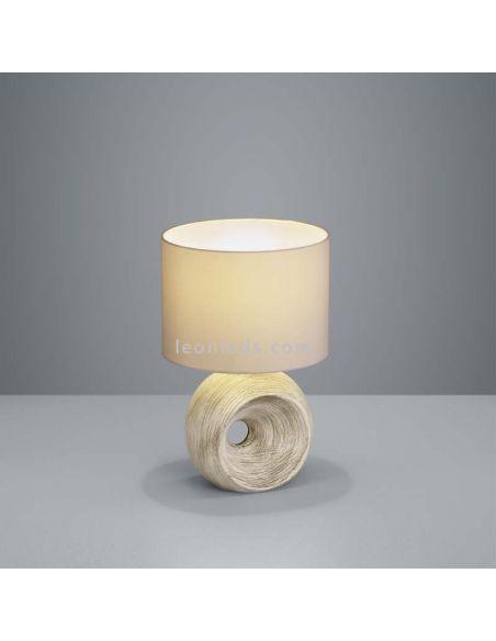 Lámpara de Sobremesa Rustica Marrón serie tanta Trio Lighting | LeonLeds Iluminación