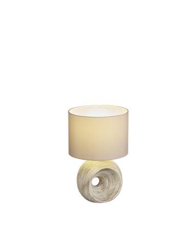 Lámpara de Sobremesa Marrón Rustica serie Tanta | LeonLeds Iluminación