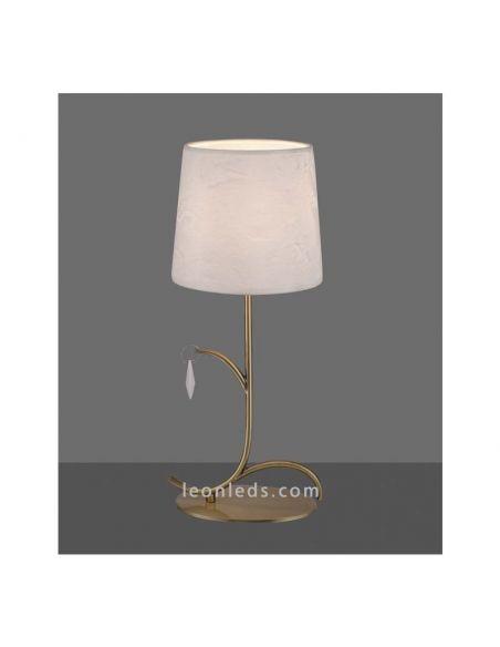 Lámpara de Sobremesa Cuero Clásica de la serie Andrea de Mantra | LeonLeds Iluminación