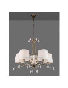 Lámpara de Techo Clásica Cuero Satinado serie Andrea de Mantra 6334| LeonLeds Iluminación decirativa