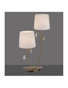 Lámpara de Sobremesa Clásica con 2 pantallas serie Andrea de Mantra | LeonLeds Iluminación LED