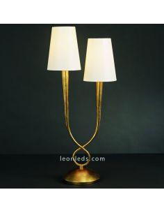 Lámpara de Sobremesa serie Paola Dorada y estilo Clásico 3545 de Mantra | Leonleds Lámpara de Sobremesa