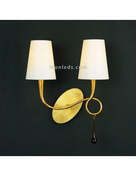 Aplique de pared Dorado Clásico de diseño serie Paola 3547 de Mantra | LeonLeds Iluminación