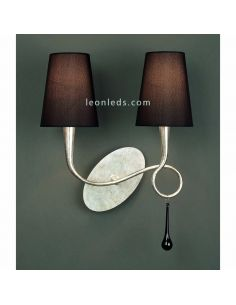 Aplique de pared Plateado de estilo Clásico de al serie Paola de Mantra 3537 | LeonLeds Iluminación
