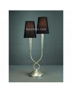Lámpara de Sobremsa Clásica Grande plateada y negra serie Paola de Mantra 3536 | LeonLeds Iluminación