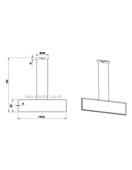 Dimensiones de Lámpara de techo LED moderna serie Azur | LeonLeds Iluminación LED Decorativa