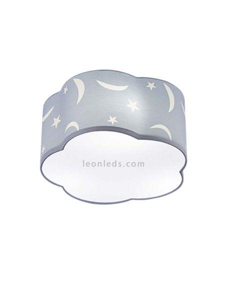 Plafón de techo infantil Azul estrellas y lunas serie Moony de Trio Lighting | LeonLeds Iluminación Infantil