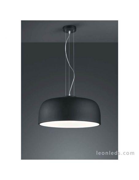 Lámpara de techo Negra de diseño moderno serie Baron de Trio Lighting | LeonLeds Lámparas Negras