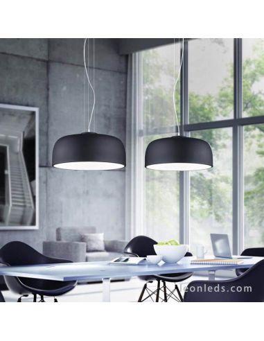 Lámapara colgante de Techo Negra de diseño moderna serie Baron | LeonLeds Iluminación