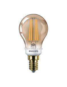 Bombilla LED E14 regulable Filemento Dorada Gold de Philips | LeonLeds Iluminación