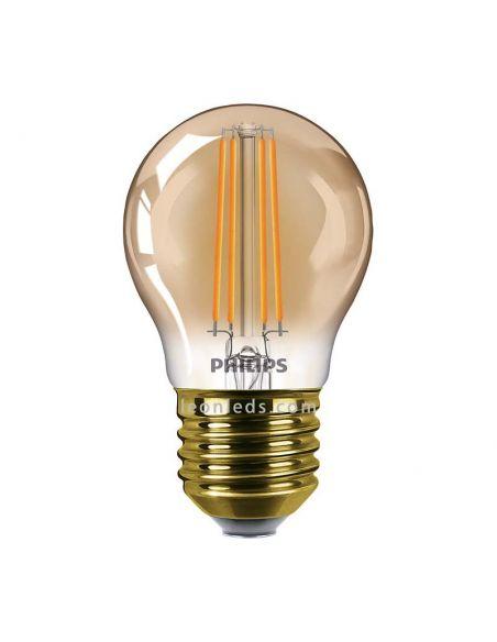Bombilla LED Esférica filamento regulable 5W dorada de Philips | LeonLeds Iluminación